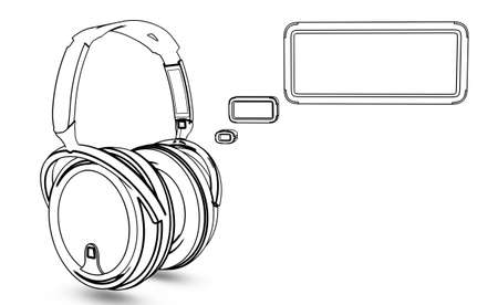 headphone with message box