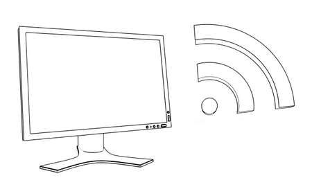 display with wireless