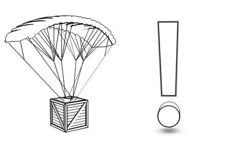 excitation: parachute with excitation Stock Photo