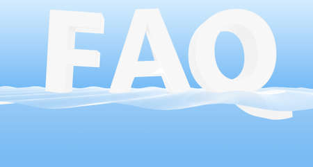 picture of FAQ for screen saver  or background Stock Photo - 10730140
