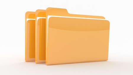 folders: WitFolders carpetas con archivos filesh en el fondo wite