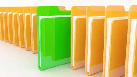 Many folders  on wite background