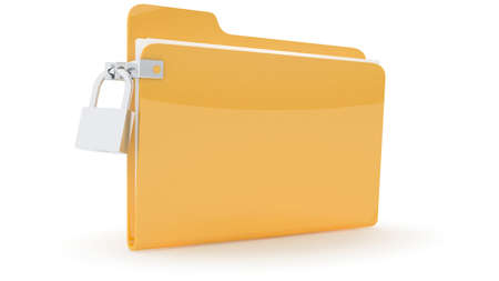 Folder with lock on wite background Stock Photo - 10767563