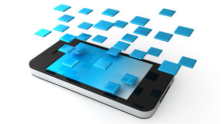 Phone Applications Stock Photo - 10907741