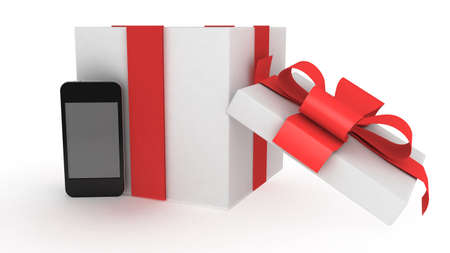 display retina: phone with present