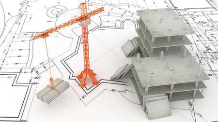 cantieri edili: Crane in cantiere