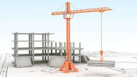 clr: Crane on the construction site