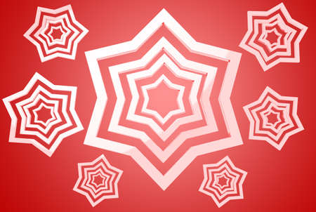 clr: White stars on red gradient