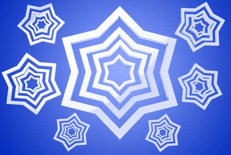 clr: White stars on blue gradient