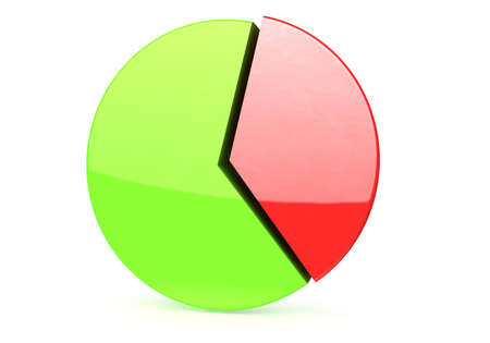 nb: colored chart Stock Photo