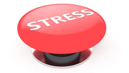 alarmed: Stress button Stock Photo
