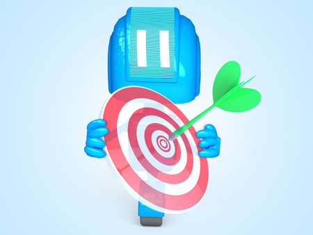 robot with target Stock Photo - 13777893