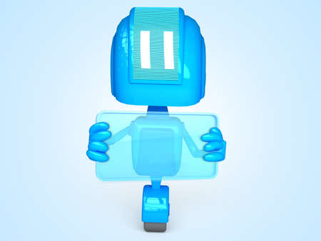 robot with business card photo