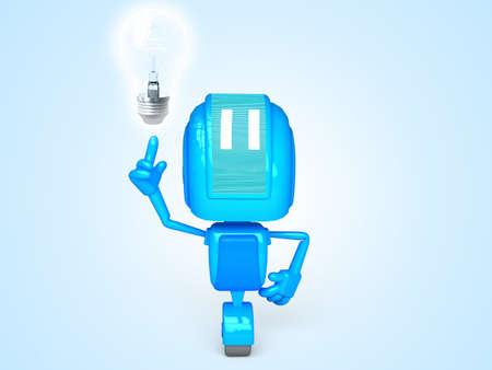 robot with idea Stock Photo - 13778856