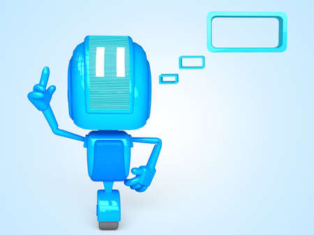 Robot with bubble Stock Photo - 13778869