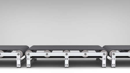 conveyor belt: empty conveyor belt  for use in presentations, manuals, design, etc  Stock Photo