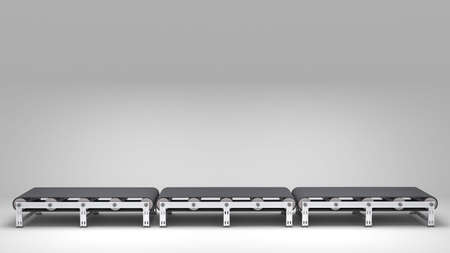 empty conveyor belt  for use in presentations, manuals, design, etc  Stock Photo