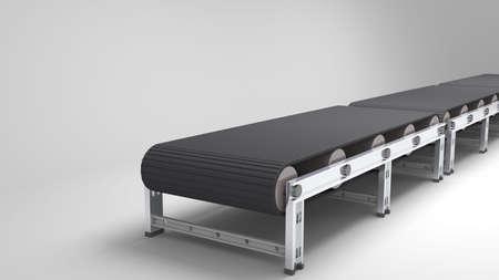 empty conveyor belt  for use in presentations, manuals, design, etc  Stock Photo
