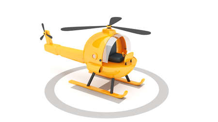 toy helicopter for use in presentations, manuals, design, etc  Stock Photo
