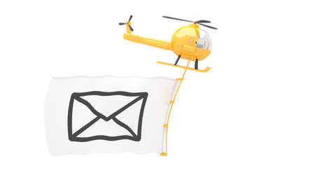 toy helicopter with new male flag for use in presentations, manuals, design, etc