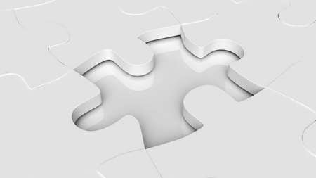 puzzle element for use in presentations, manuals, design, etc  Stock Photo