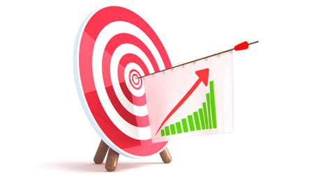 Arrow Graph Stock Photo