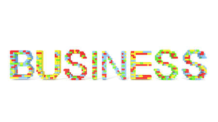Business word from blocks for use in presentations, manuals, design, etc.