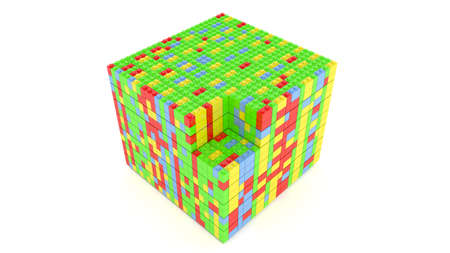 Cube from blocks for use in presentations, manuals, design, etc. Stock Photo