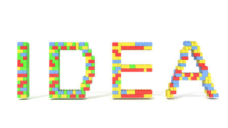 Idea word from blocks for use in presentations, manuals, design, etc.