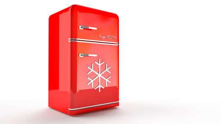 Retro Us Kühlschrank : Geöffnet retro kühlschrank kühlschrank in rot retro farben