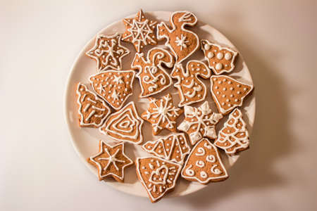 Christmas Ginger and Honey cookies on plate