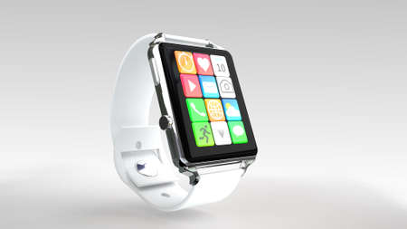 Smart watch isolated on white for use in presentations, education manuals, design, etc.