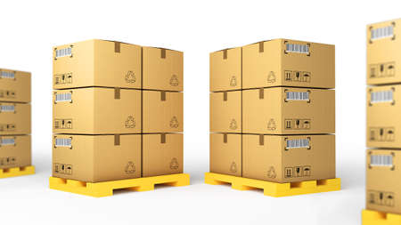Creative cargo, delivery and transportation logistics storage for use in presentations, education manuals, design, etc Stock Photo