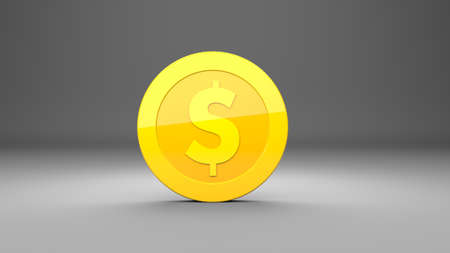 Investment, modern icons dollar for use in presentations, education manuals, design, etc. 3D illustration