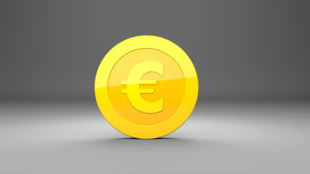 Investment, modern icons euro for use in presentations, education manuals, design, etc. 3D illustration
