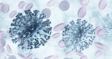 coronavirus Close-up of virus or bacteria cells
