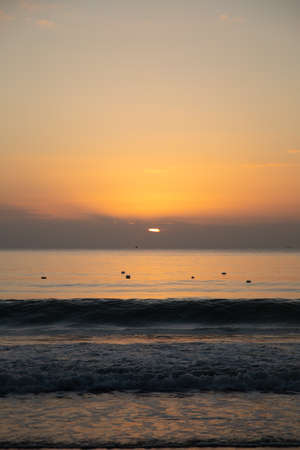 Dawn on the beach for use in presentations, manuals, design, etc. 免版税图像