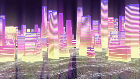 Abstract high speed traveling in city background 免版税图像