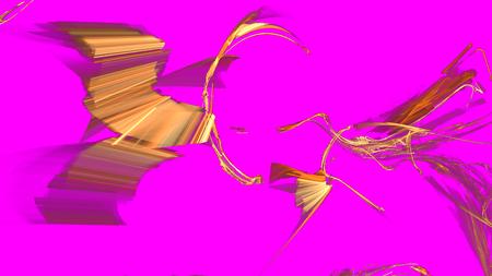 Motif fractal coloré chaotique fantastique. Formes fractales abstraites. Fond d'illustration de rendu 3D ou papier peint.