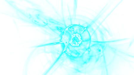 Chaotisches buntes Fraktalmuster der Fantasie. Abstrakte fraktale Formen. 3D-Rendering-Illustrationshintergrund oder -Tapete.