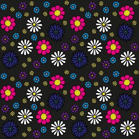 cempasuchil: Patr�n de flores sin fisuras Vectores