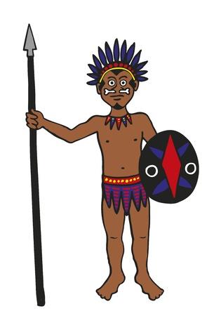 Tribal Warrior Stock Vector - 12044176