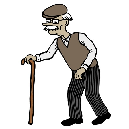 walking stick: Old Man