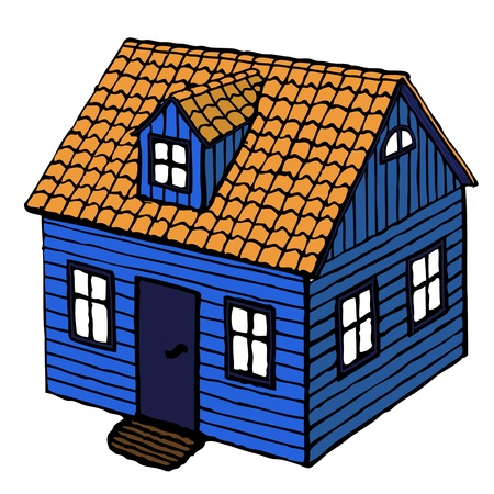 wooden doll: Small House
