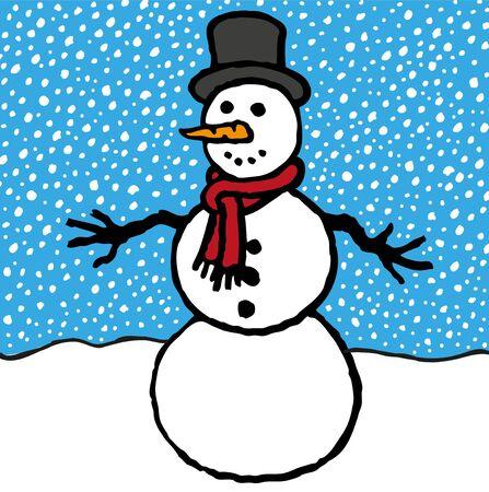 Snowman Stock Vector - 12044136