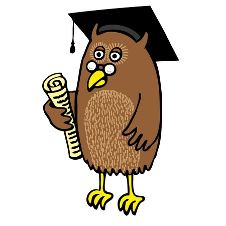 Graduation Owl Vector