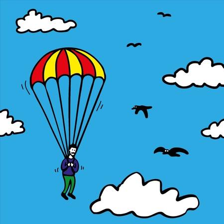jumper: Parachute jumper