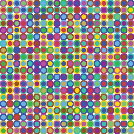 nineties: Disco dots background Illustration