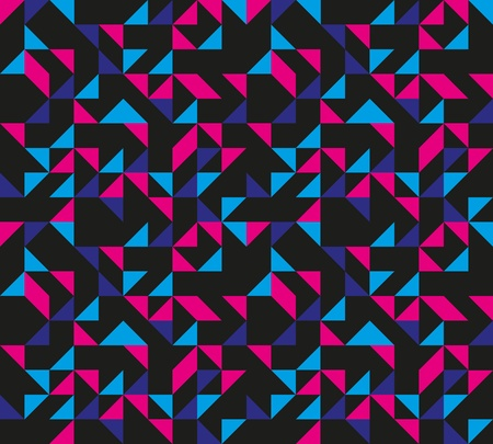 90s: Seamless Retro Geometric Pattern Illustration