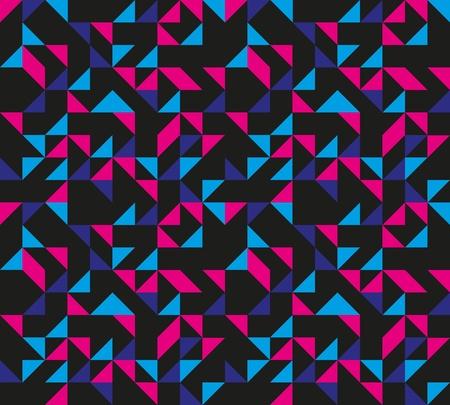 bauhaus: Seamless Retro Geometric Pattern Illustration